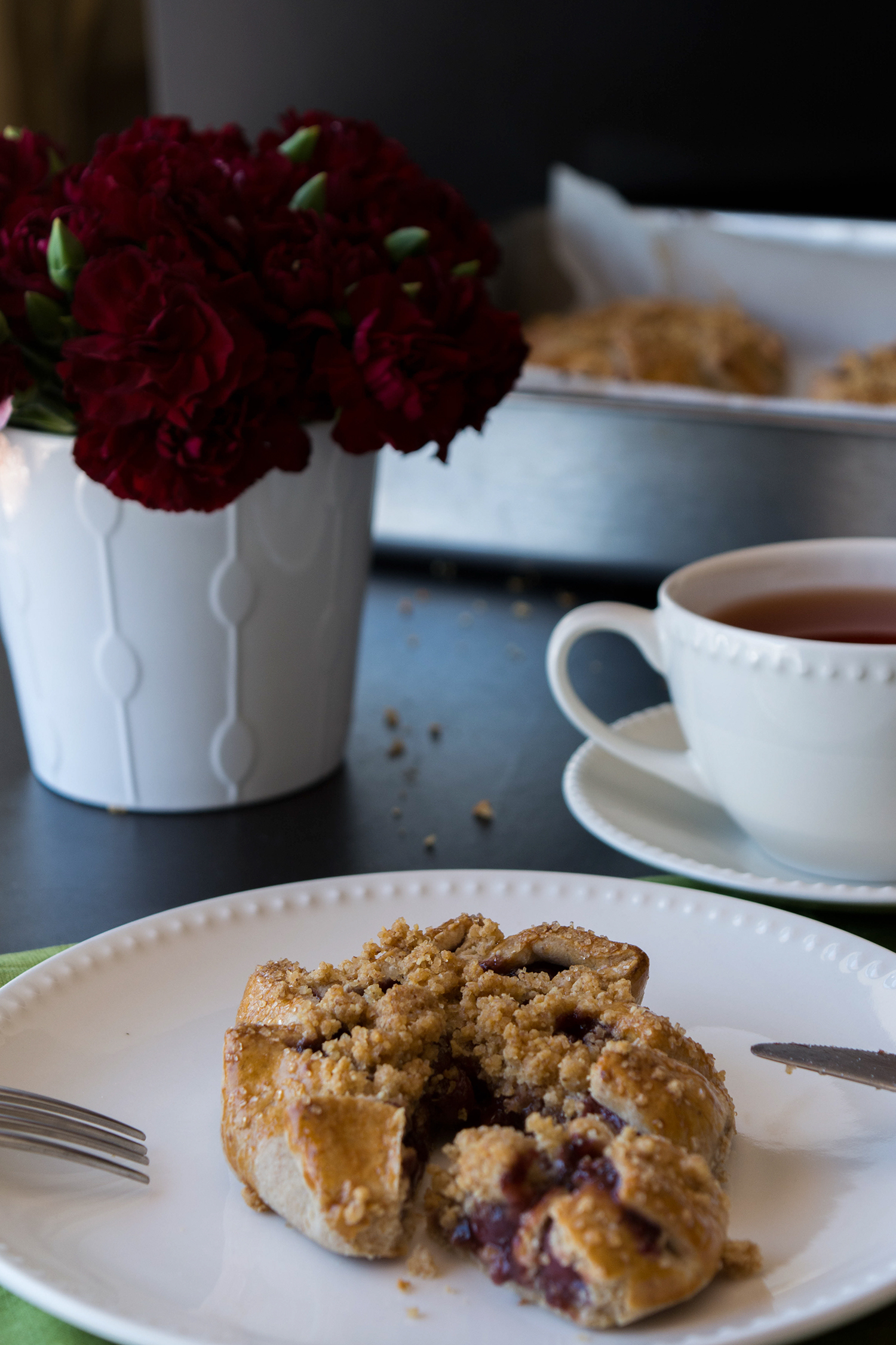 Cherry Galettes with Walnut Streusel