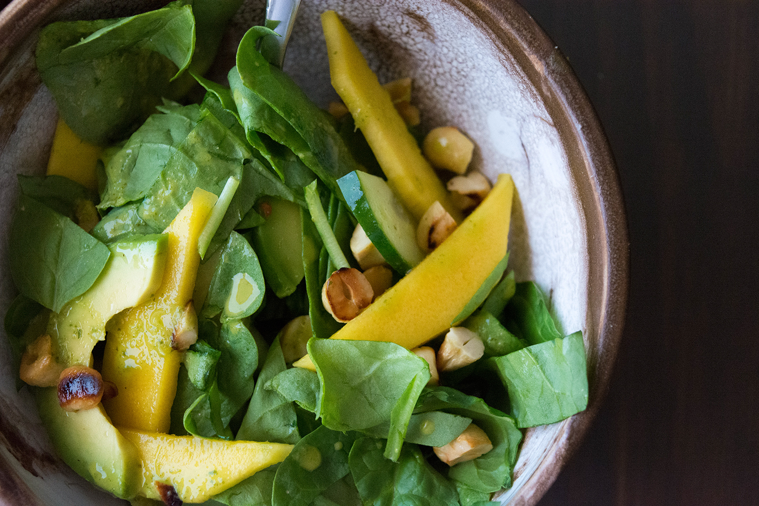 Spinach Salad with Mango & Avocado