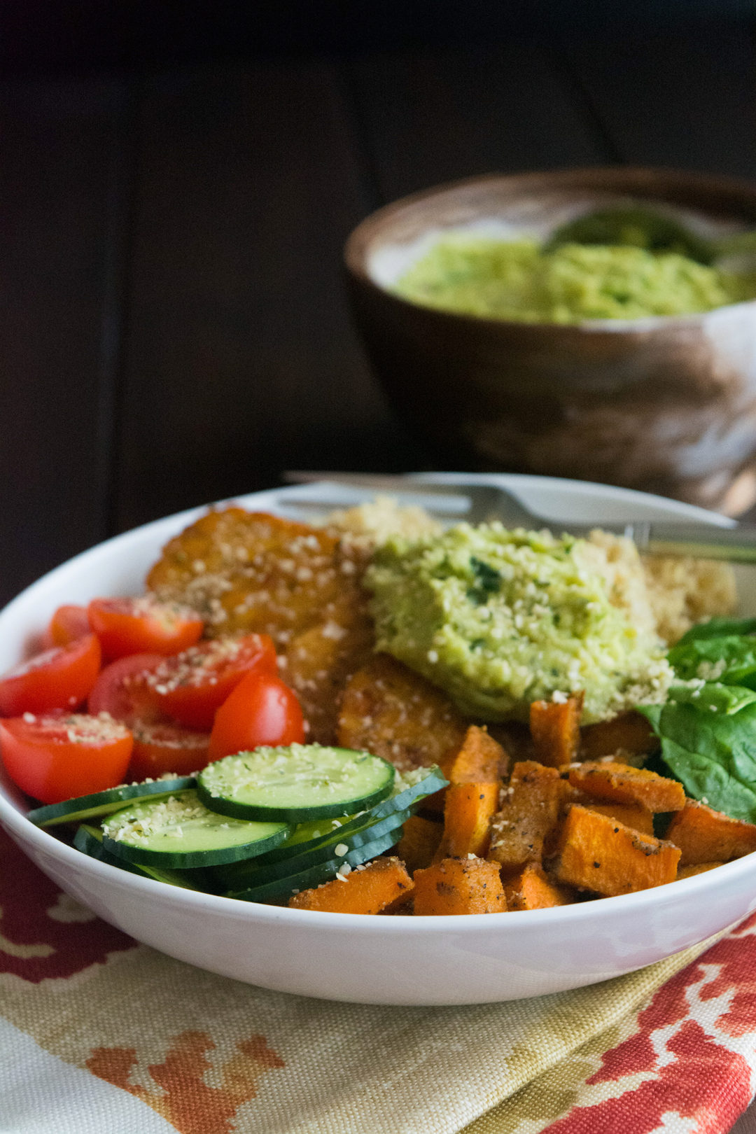 Maple Tempeh Buddha Bowl with Guacamole