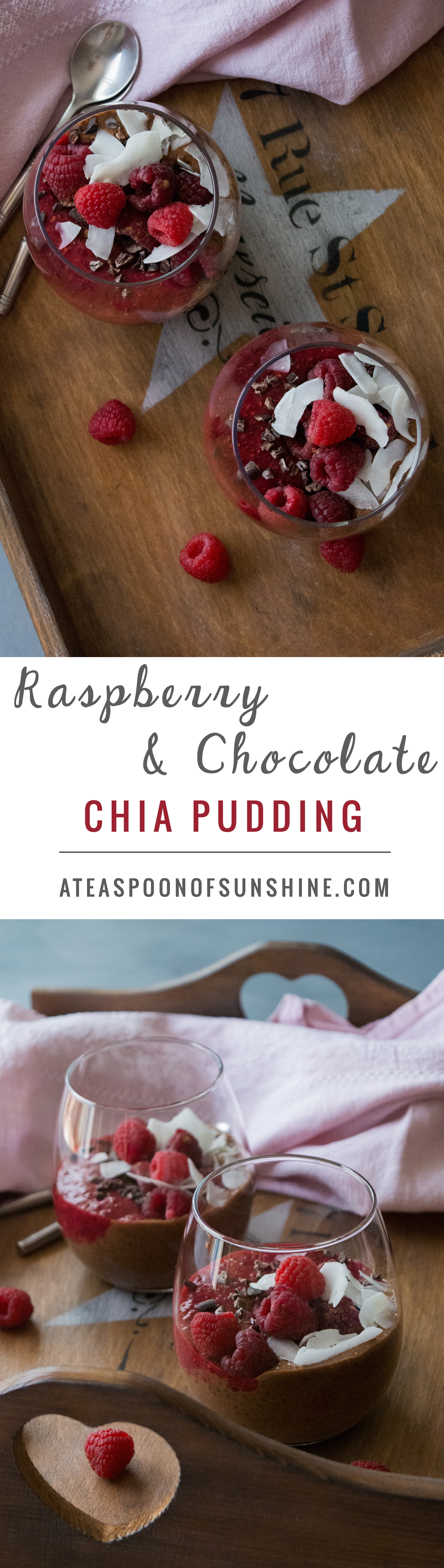 Raspberry & Chocolate Chia Pudding